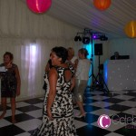 Wedding DJ With Black & White Dancefloor