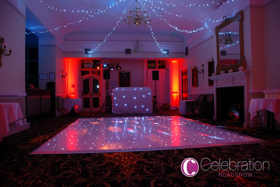Starlit Dancefloors and Lighting can transform a room