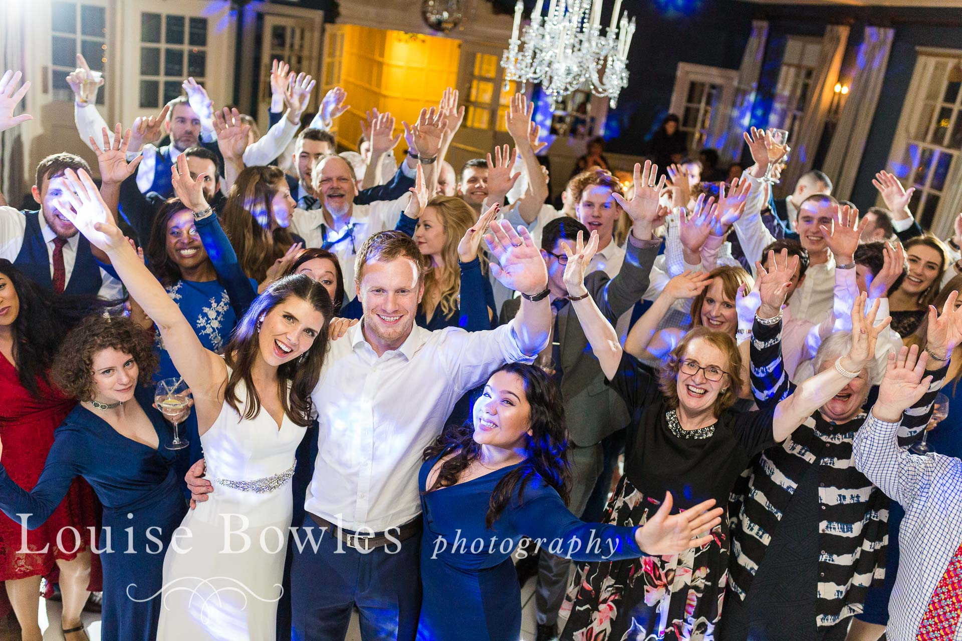 Bride & Groom having a ball with their guests
