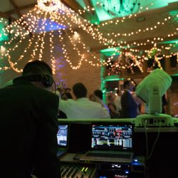 DJ playing to Wedding Guests