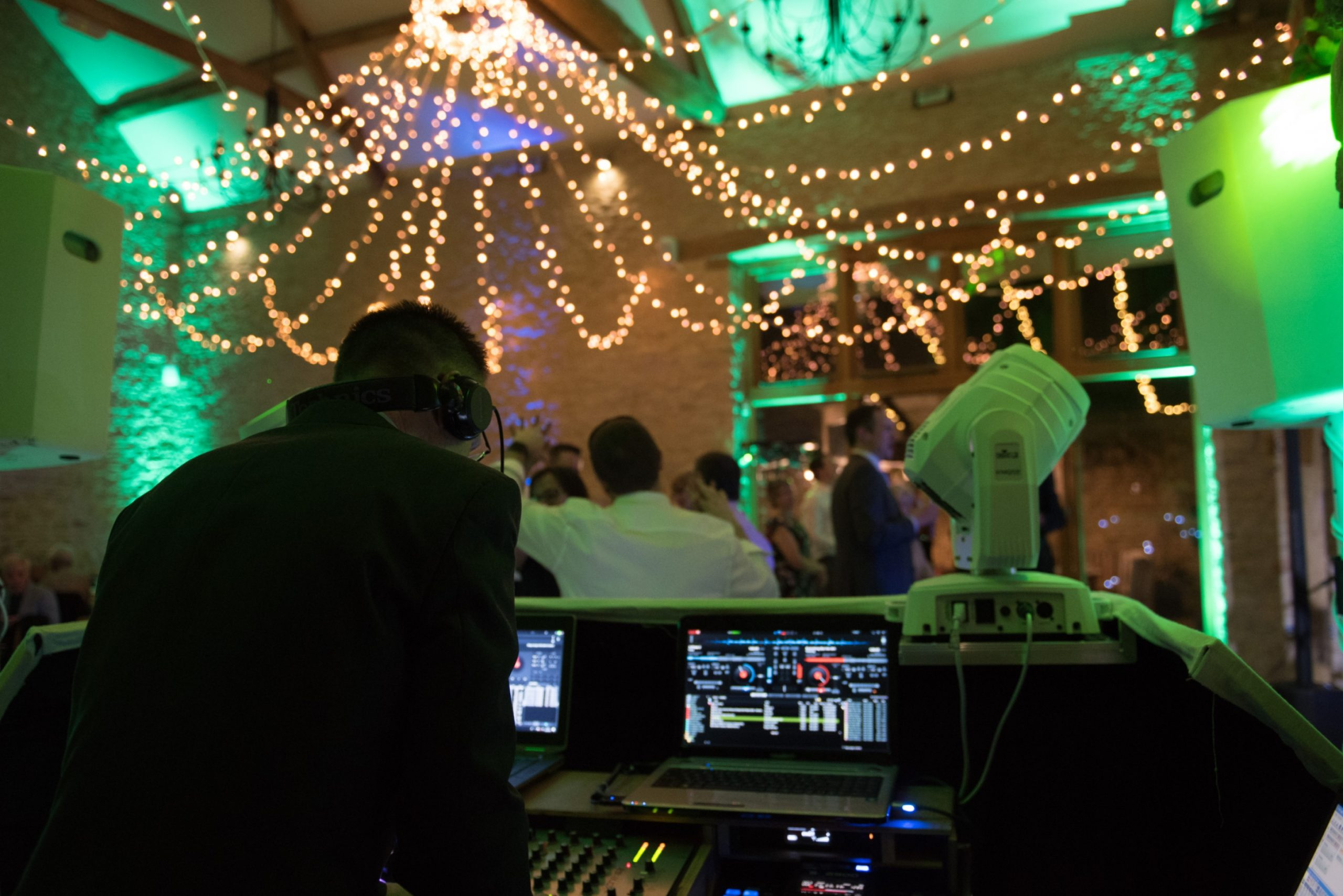 Our DJ, Phill, choosing the best wedding songs